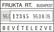 DN 53a dátum- és sorszámbélyegző
